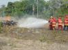 Realizada práctica combate de incendios forestales en Planta Lara