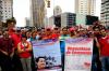 Trabajadores de Venezolana de Cementos marcharon en apoyo al Presidente Maduro